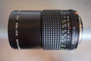 Pentacon 135mm f2.8 analog lens