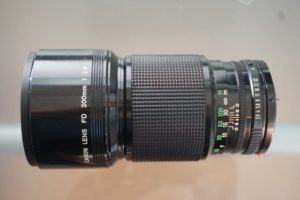 Canon FD 200mm f2.8 analog lens