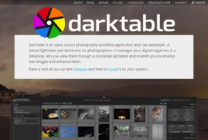 darktable raw editor