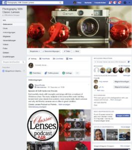 Classic Lens Podcast in Facebook